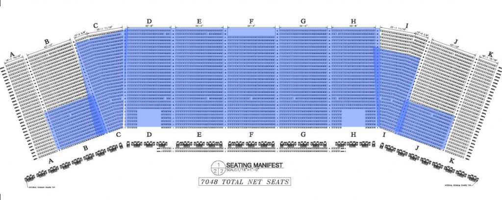 Seats in Blue are Sold for the KISS Concert as of June 1