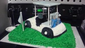golf cart cake