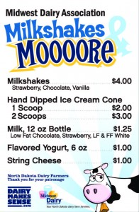 ND Malt Wagon  Menu