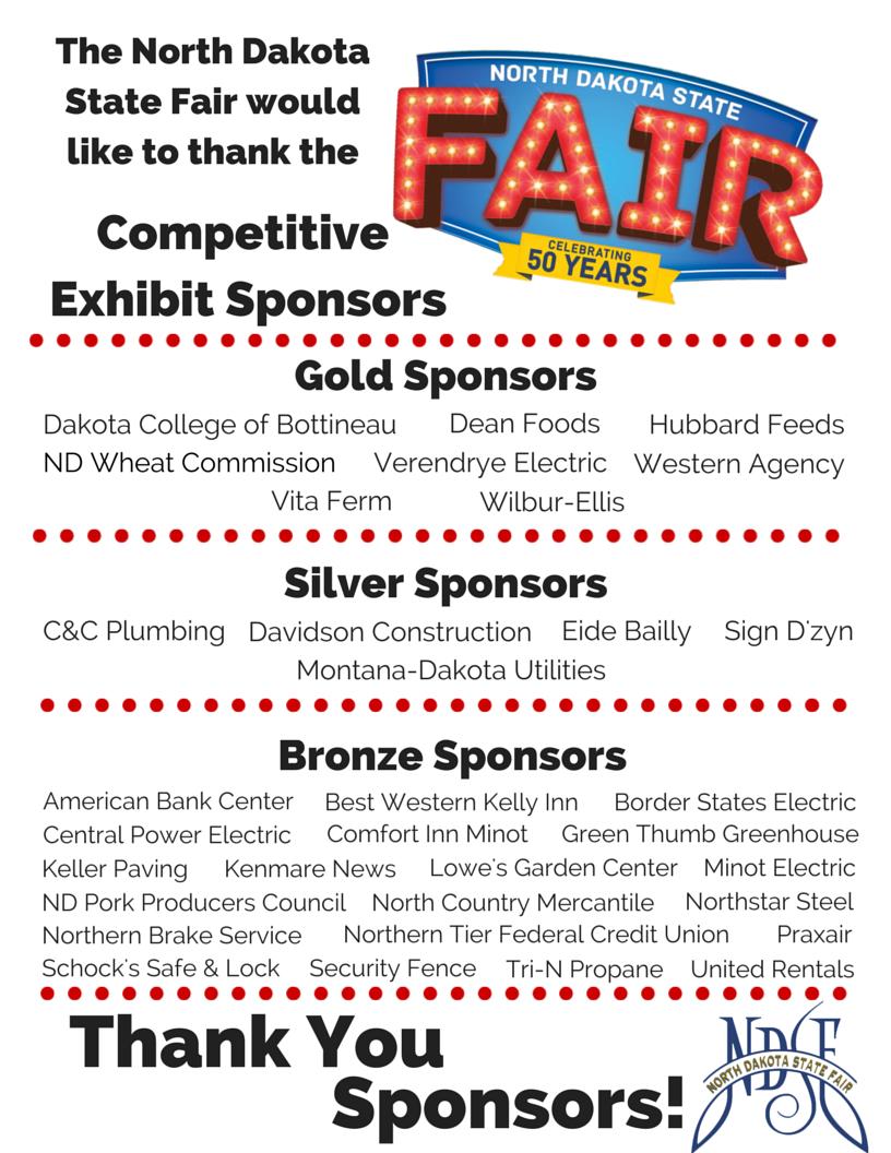 Competitive Exhibit Sponsors