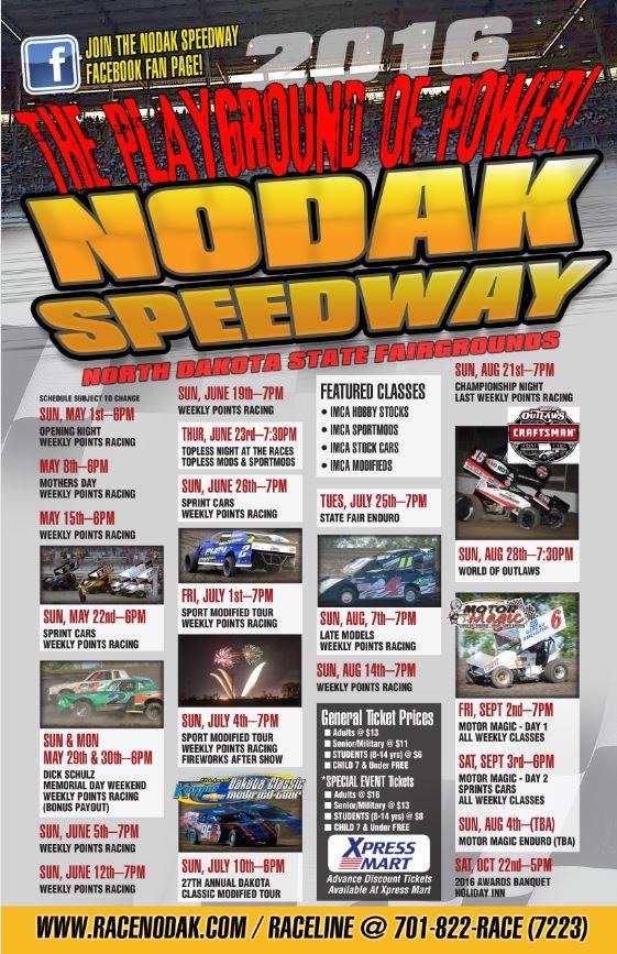 Nodak Schedule 2016